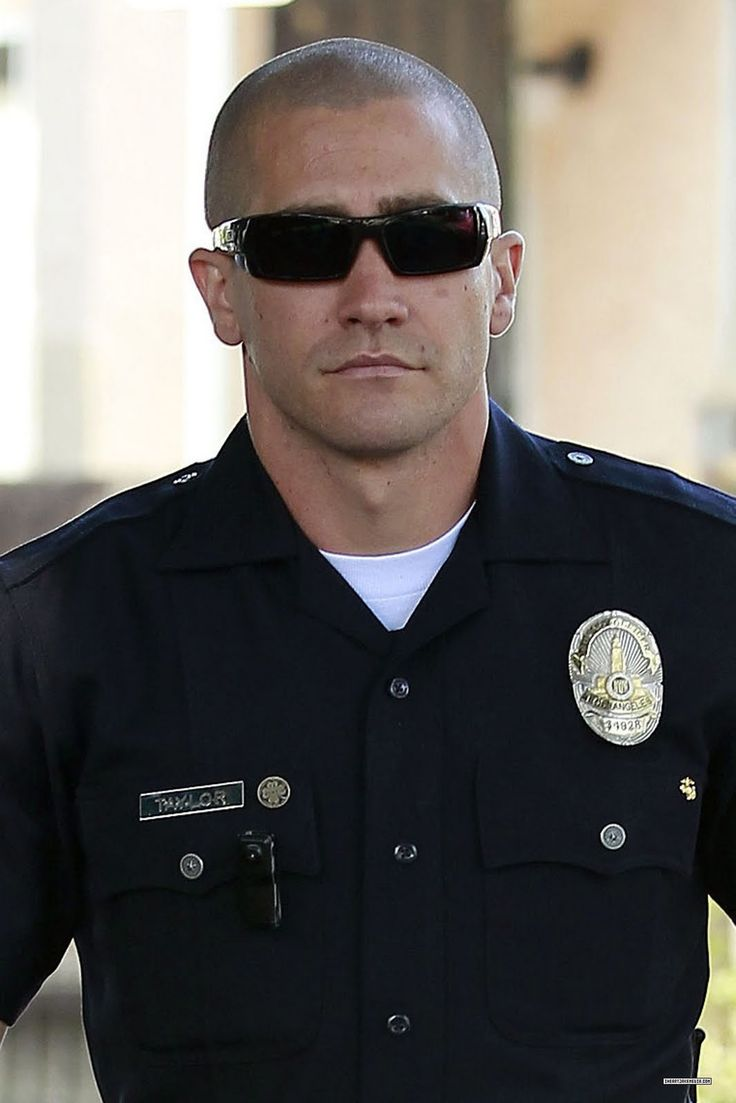Jake Gyllenhaal - End of Watch - This look is amazing for him (and for me to look at)