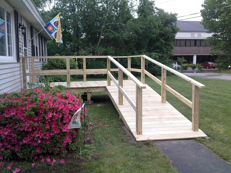 62 best images about build a wheelchair ramp on pinterest for Handicap homes