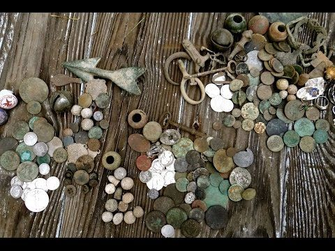 Craziest Metal Detecting Video! Colonial Merchant Site Coin Madness!!!!!! - YouTube