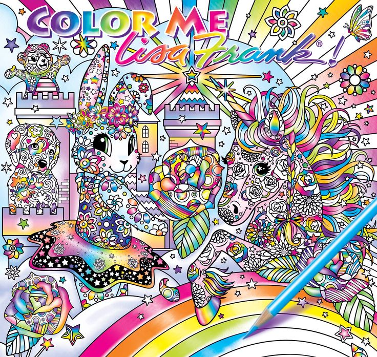 Lisa Frank Who Is Well Known For Illustrating Childrens Coloring Books Finally Coming Out With
