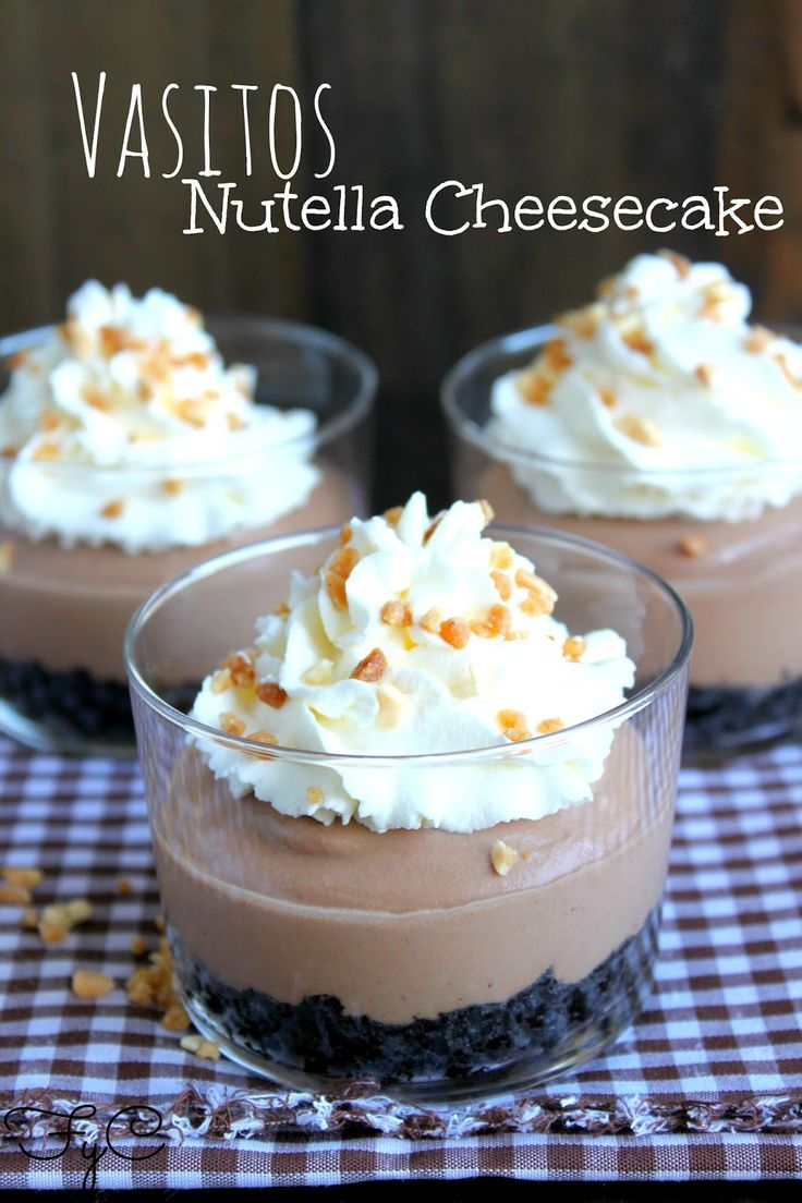 Vasitos Nutella Cheesecake
