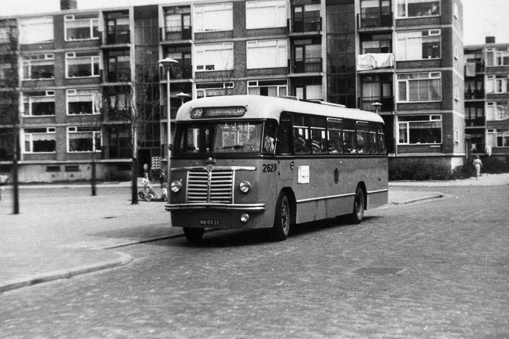 Schiedam Nieuwland Dr Wibautplein jaren '50