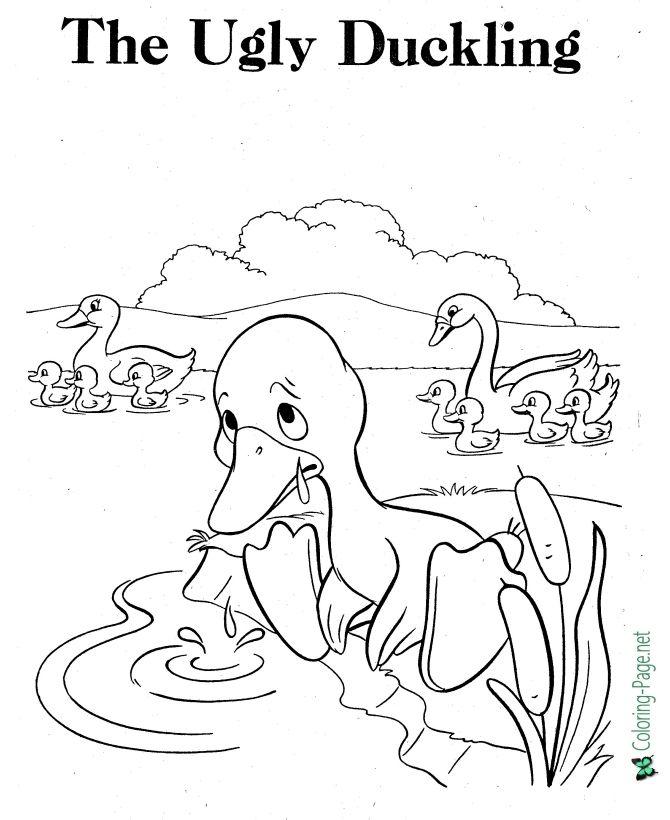 Resultado de imagen de the ugly ducking to colour
