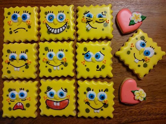 アイシングクッキー スポンジボブ アイシングクッキー 誕生日 アイシングクッキー アイシング