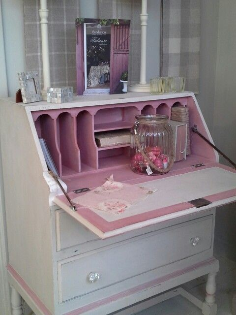 Painted Writing Desk in Autentico Chalk Paint