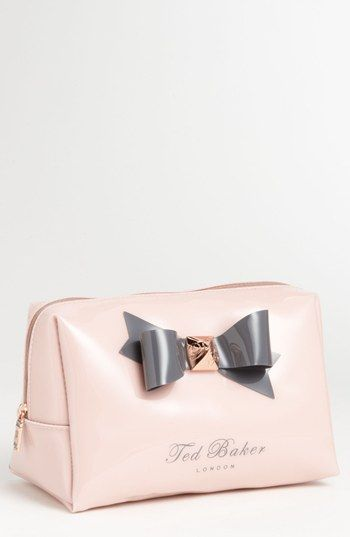 Ted Baker London 'Large Bow' Cosmetics Bag | Nordstrom Almost bought this in London<3