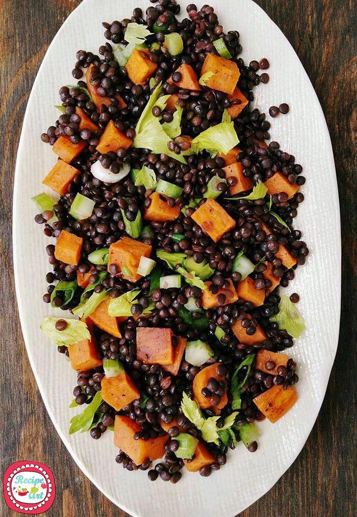 Insalata di fagioli neri e carote - Carrots and black beans salad halloween