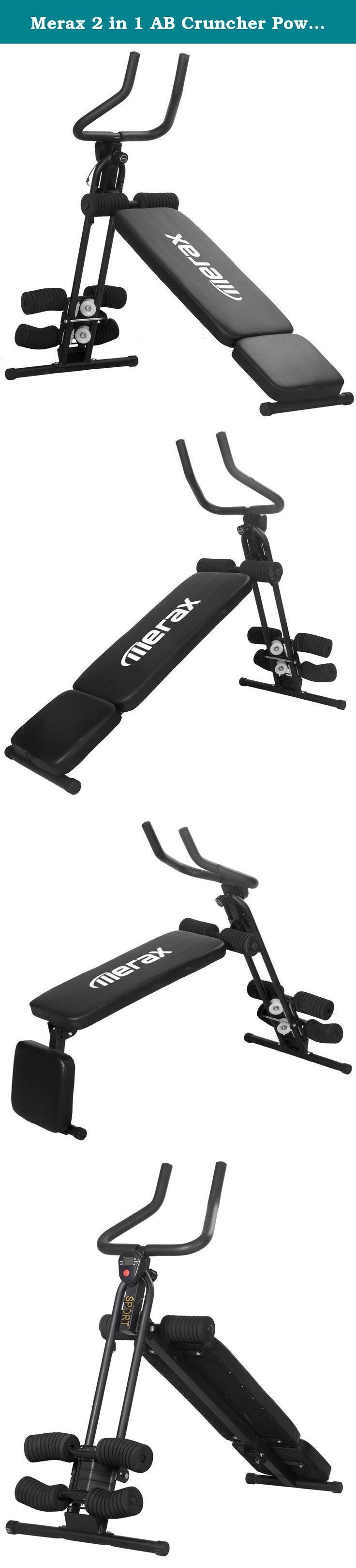 Merax 2 in 1 AB Cruncher Power Fitness Abdominal Trainer 5 Minute Shaper Fitness Core Toner with Sit-up Bench. Get in shape the easy way with the Merax Abdominal Trainer. Just spend five minutes a day and youll simply be surprised to see the weight loss r