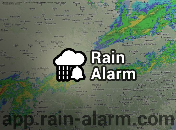 Necesitas saber si está lloviendo cerca? Prueba Alarma de Lluvia!