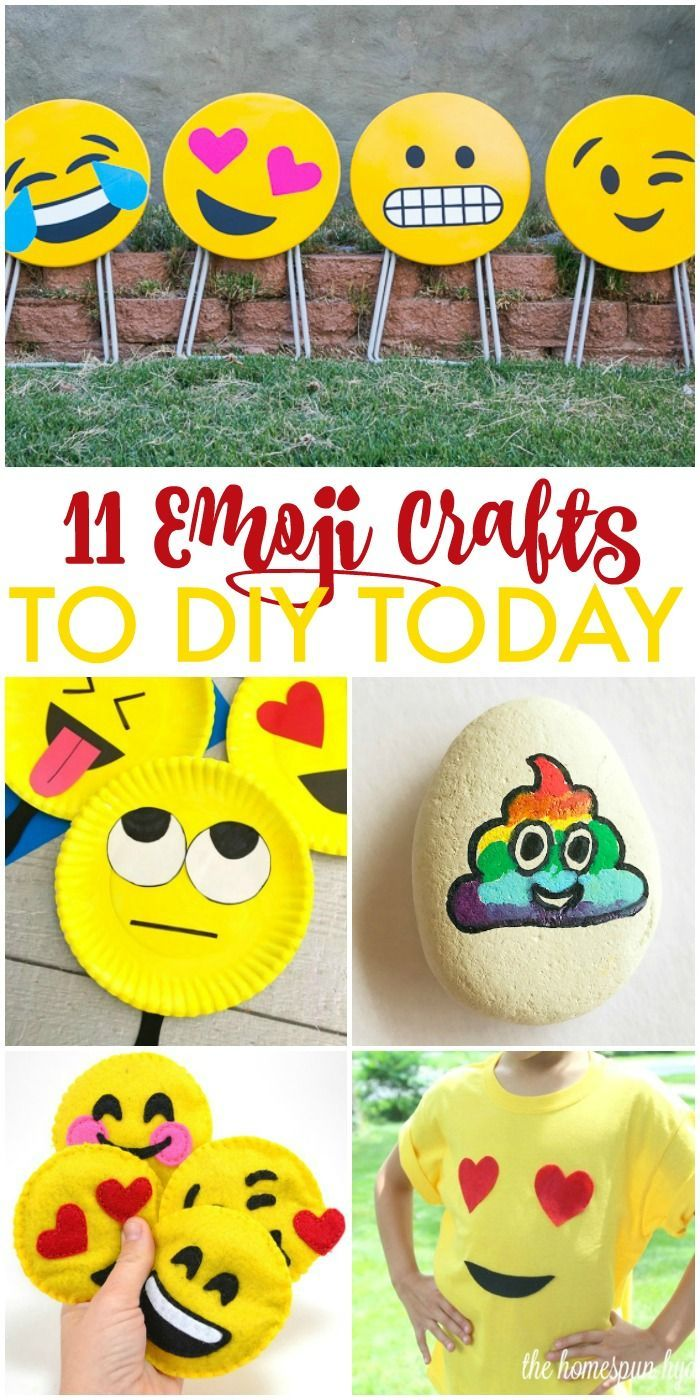 11 Diy Emoji Crafts You Ll Want To Make Today Emoji Craft Easy Arts And Crafts Summer Arts And Crafts