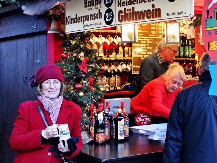 Warming up with mulled wine at Nuremberg