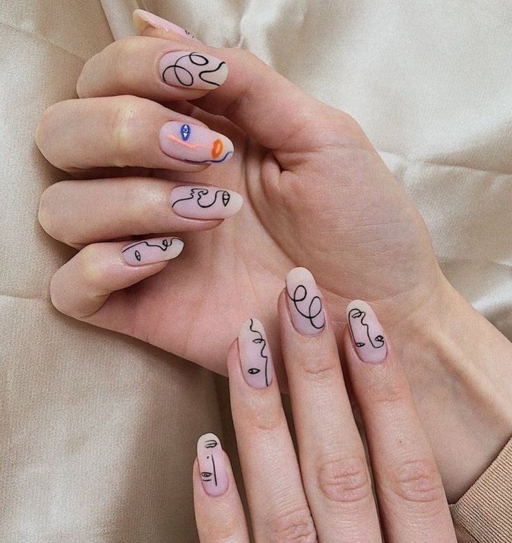 These abstract nails are taking over social media