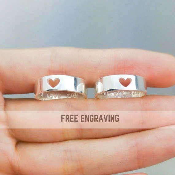 Regalo para parejas anillos de promesa parejas anillo