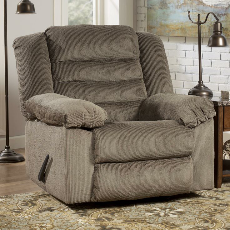 Nightfield Taupe Rocker Recliner With Heat And Massage