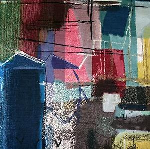 JOHN PIPER Stones of Bath Vintage Art Textile 1959