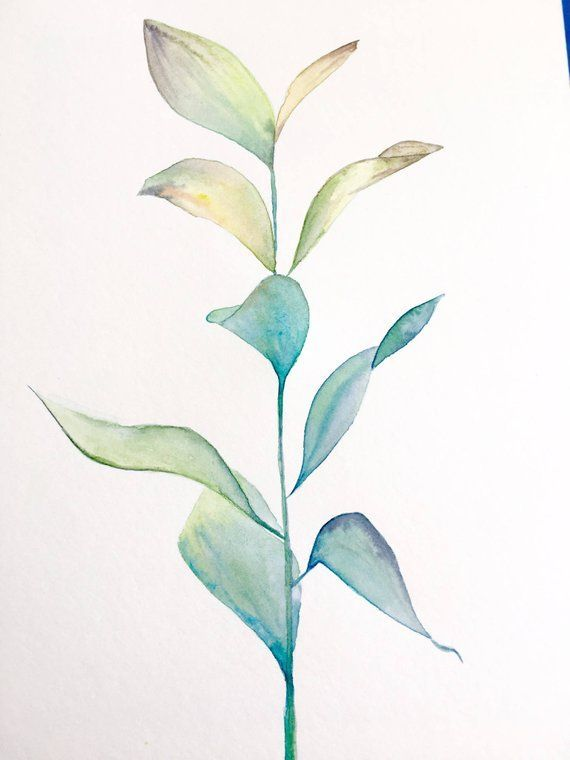 Leaf Botanical Painting In 2020 Watercolor Leaves Watercolor