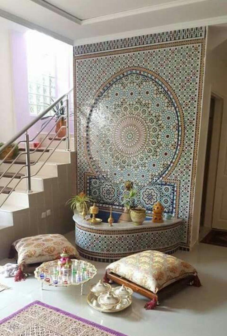 Fontaine de salon style marocain | Deco salon marocain, Déco ...