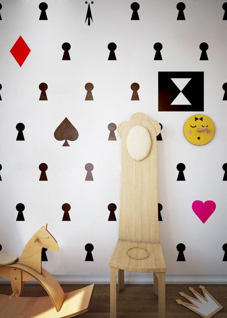 Humpty Dumpty Room Decoration Wallpaper Alice / interior design Fajnodesign.by