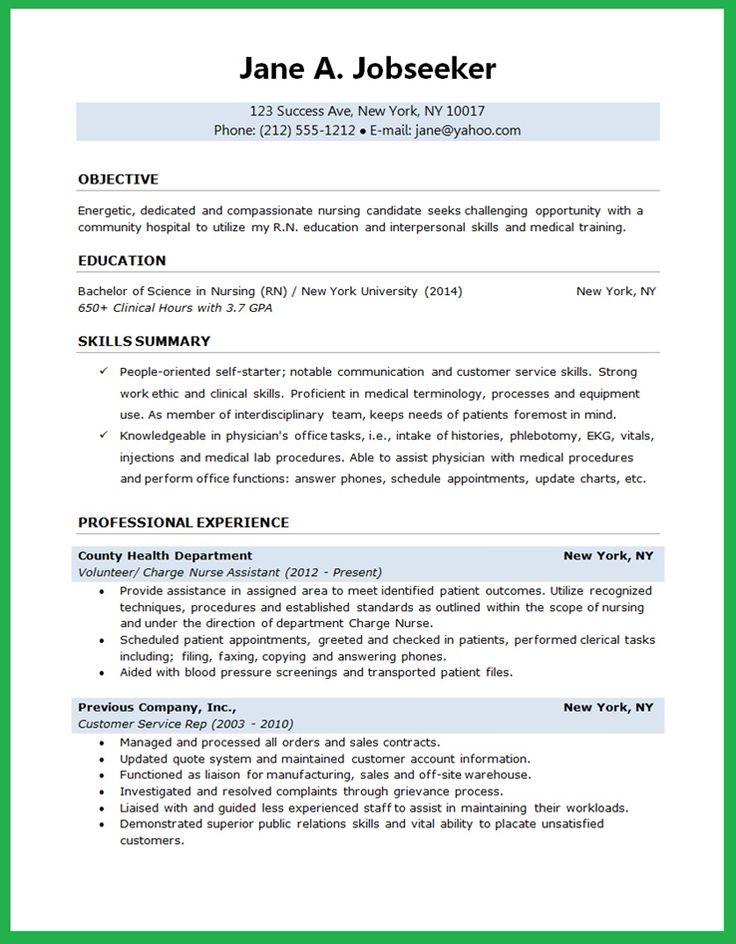 Best 25+ Nursing resume ideas on Pinterest Nursing resume - student nurse resume