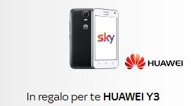 Huawey Y3 in regalo a chi si abbona online a SKY!