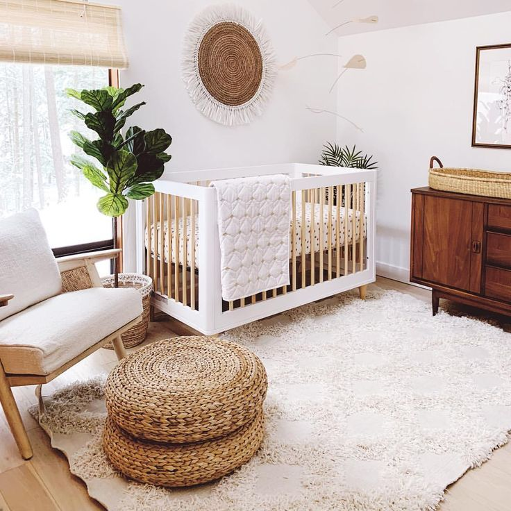 Modern Boho Neutral Nursery Reveal Baby Room Design Baby Room