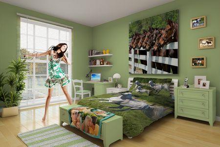 Horse theme room for girls western house pinterest for Horse themed room