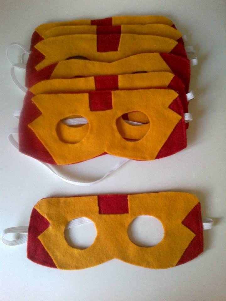 Máscara Homem de Ferro em feltro ou EVA by DeCora Mania.