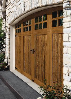 SteelPolymer Garage Doors With Realistic Wood Look Doors Outbuildings Parking Lots And