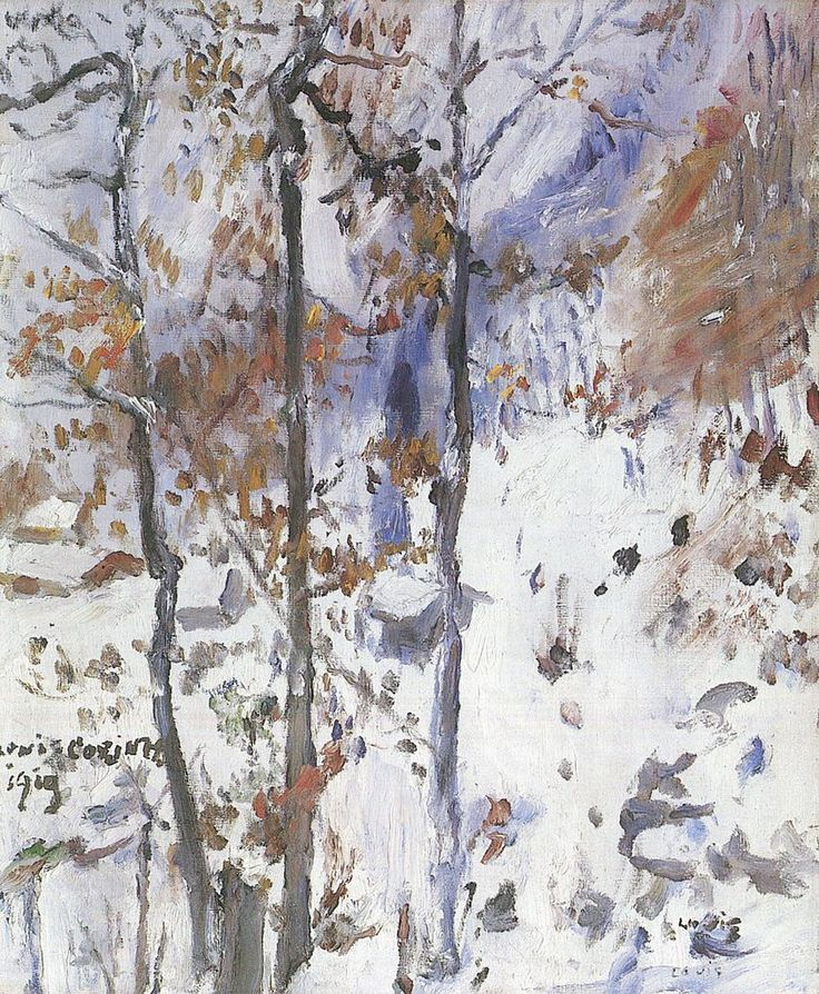 """Lovis Corinth, Walchensee, Schneelandschaft, 1919.Molly Peacock's poem """"The Distance Up Close"""" appeared in our Summer 1983 issue. Her most recent book is The Paper Garden.The Distance Up CloseAll my life I've had goals to go after, goalsin a molten distance. And just the way snowsin the distance, dense and white among grovesof bare trees, lessen... <a href=""""http://www.theparisreview.org/blog/2016/01/20/the-distance-up-close/"""">Read More</a> <span class=""""link"""">»</span>"""