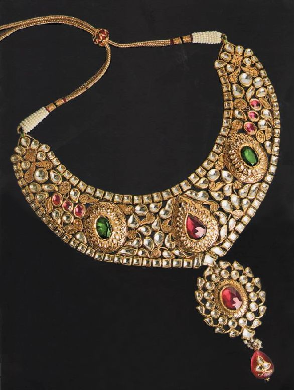 Latest Indian Delhi Kundan Jewellery Set (5)   FashionCrisp – New ...