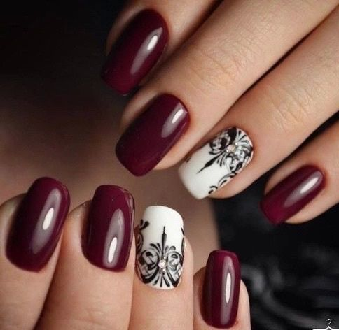 nails, red, and white εικόνα