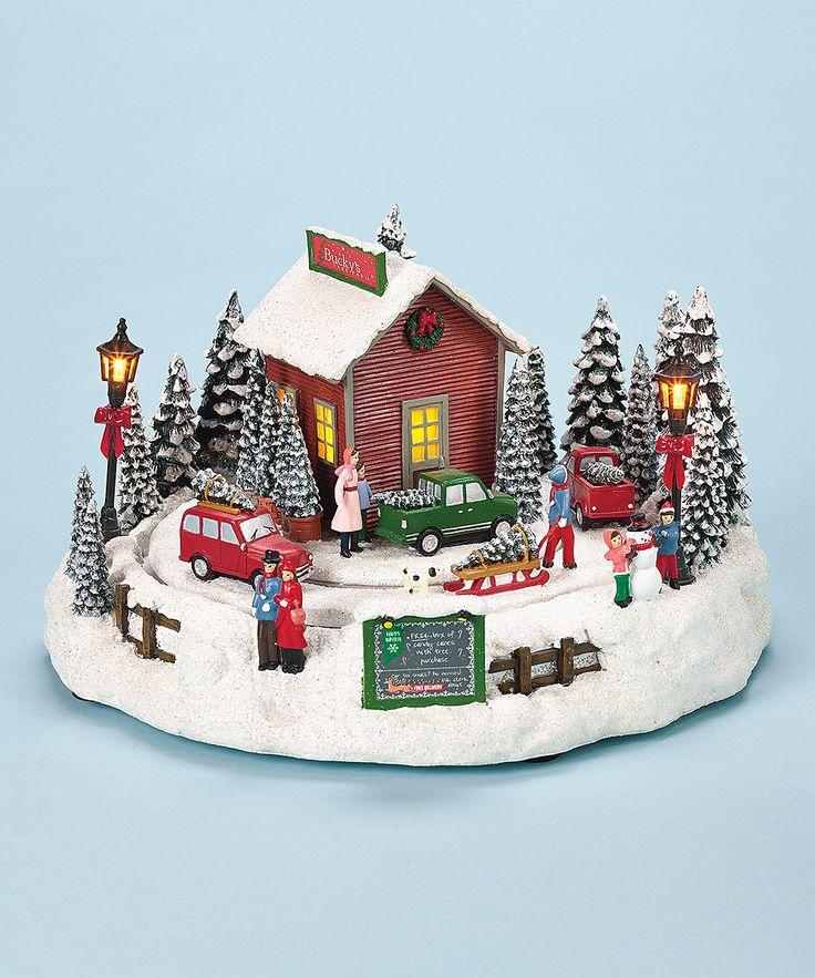 Christmas Tree Farm Music Box Trees, Christmas trees and