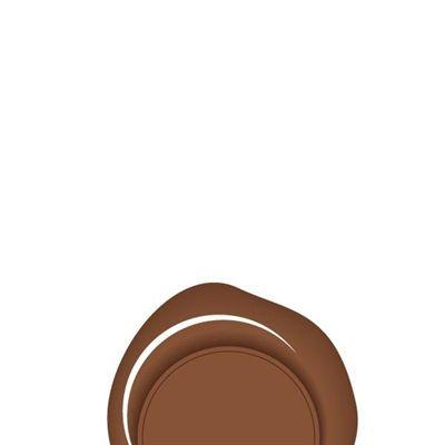 Amicucci - cera per sigilli per pistola a caldo conf.6 pezzi cioccolato, nr.40