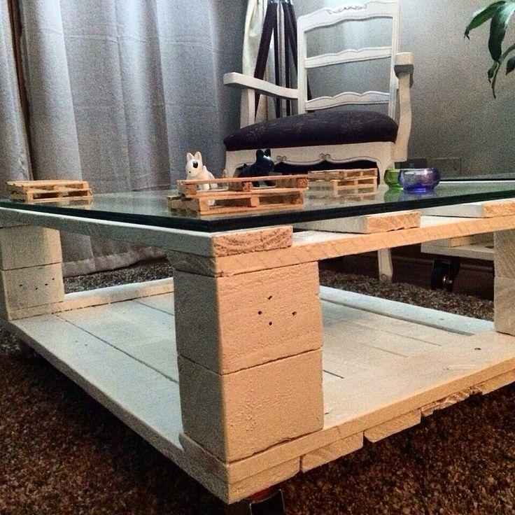 Mesa de centro Pallets modelo Duplex <3