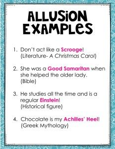 Allusion Examples Anchor Chart