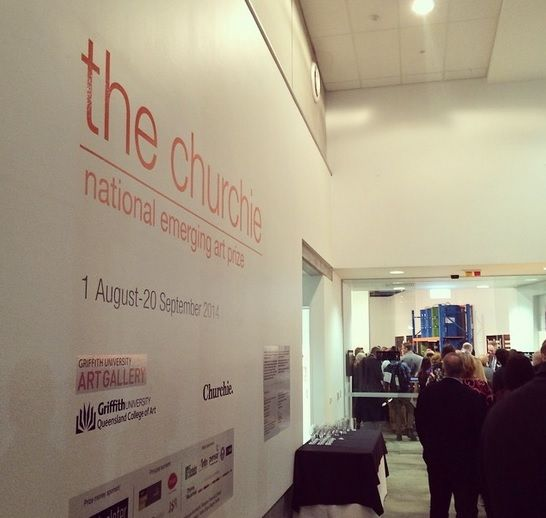 The Churchie National Emerging Art Prize 2014 - REDSEA Gallery attended on Friday night