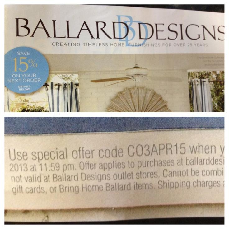 ballard designs coupon code free shipping