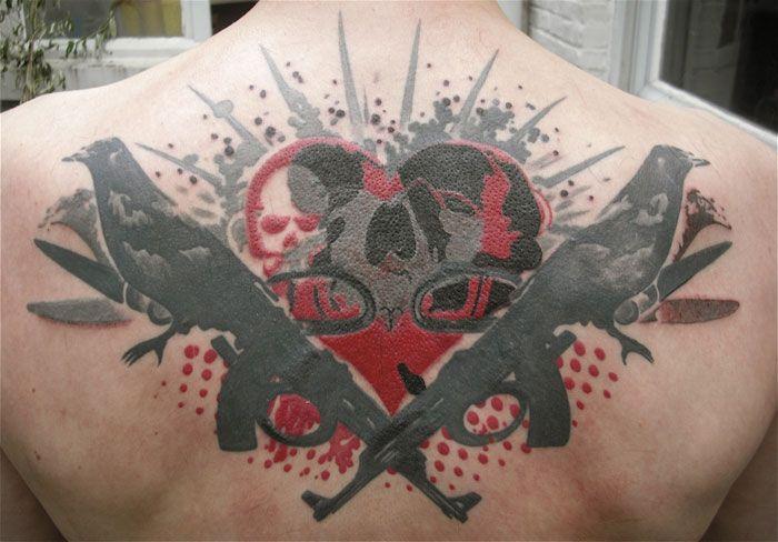 Татуировка ворон - значение, эскизы тату и фото