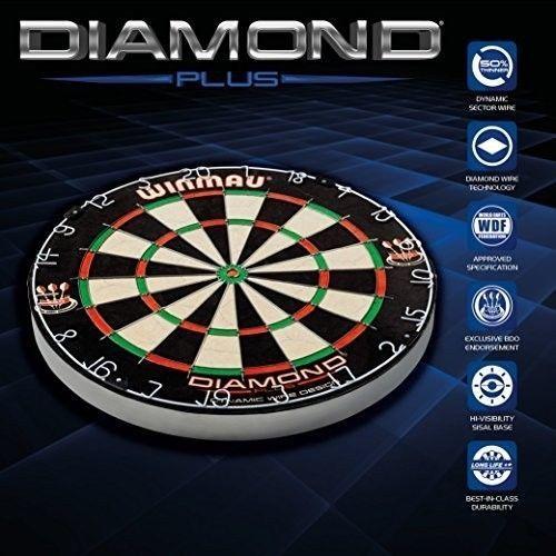 #Dartboard #Winmau #Diamond #Plus #Wired #Bristle #Game #BDO #Endorsed #Exclusive #Darts