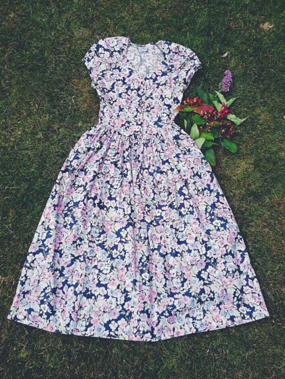 VINTAGE | Vintage Laura Ashley Floral Dress Circa 1980s |   Available from Deer and Fawn Etsy Shop https://www.etsy.com/uk/listing/460081680/vintage-laura-ashley-floral-dress-size