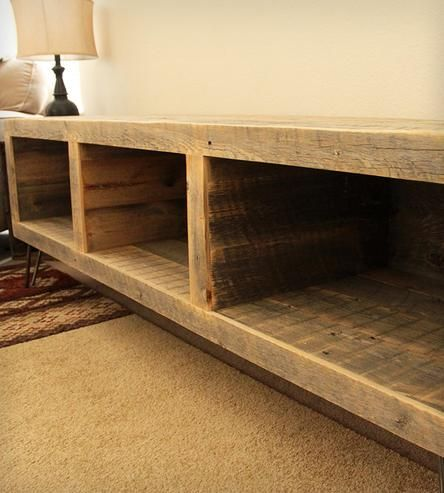 Reclaimed Wood Segmented Media Console by J W Atlas Wood Company on Scoutmob Shoppe