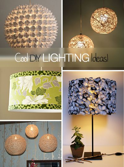 Cool DIY Lighting Ideas & Tutorials!