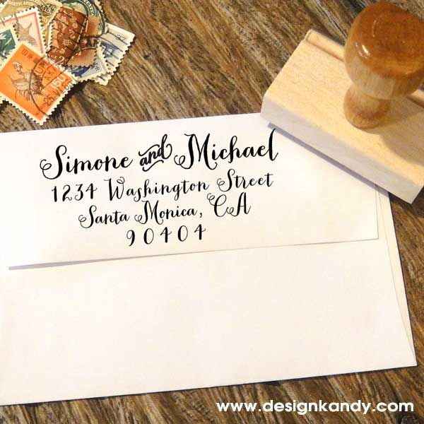 Custom Address Stamps for weddings and personal use — designkandy