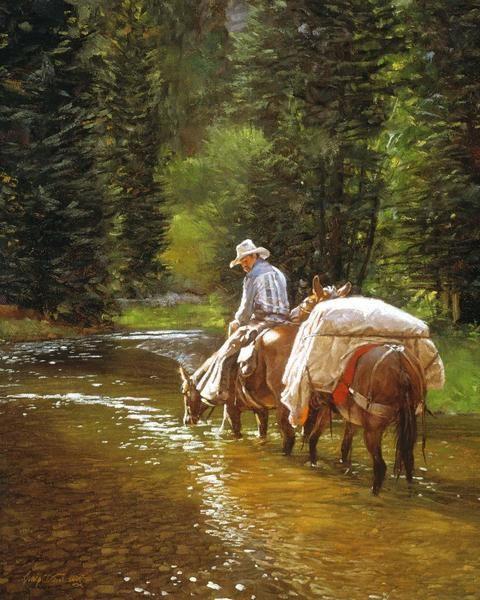 """Dont Bite Me"" - Western Paintings Craig Tennant's Cowboy & Western Art Reproductions. - Craig Tennant Cowboy Prints"