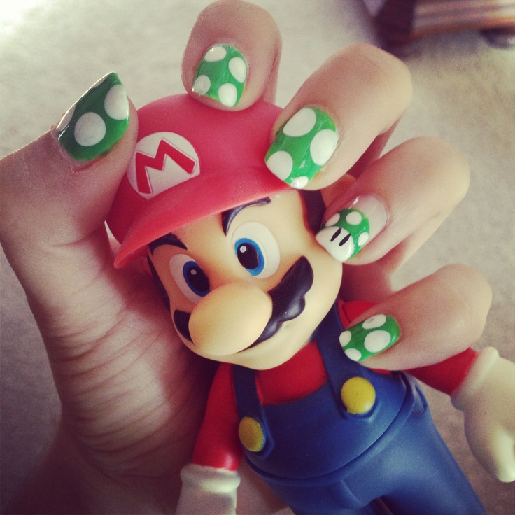 1UP mushroom nails