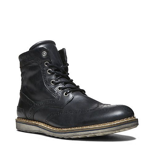 Steve Madden Glaicer in Black for Men (BLACK LEATHER)