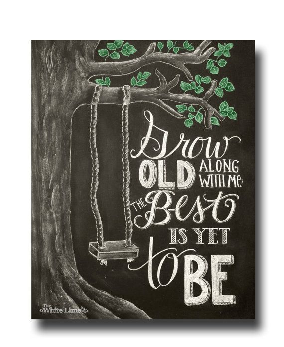 Wedding Chalkboard Sign Wedding Decor Chalk Art Print Typography Hand Drawn Tree Swing Wedding Sign Chalkboard Art Love Quote Anniversary on Etsy, $17.00