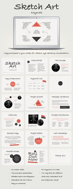 Sketch Art Keynote Template #design Download: http://graphicriver.net/item/sketch-art-keynote-template/11624808?ref=ksioks