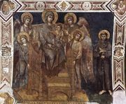Madonna Enthroned with the Child, St Francis and four Angels...  by (Cenni Di Peppi) Cimabue