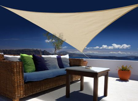 Voile d'ombrage triangulaire 3,00 m sable - 140g/m²